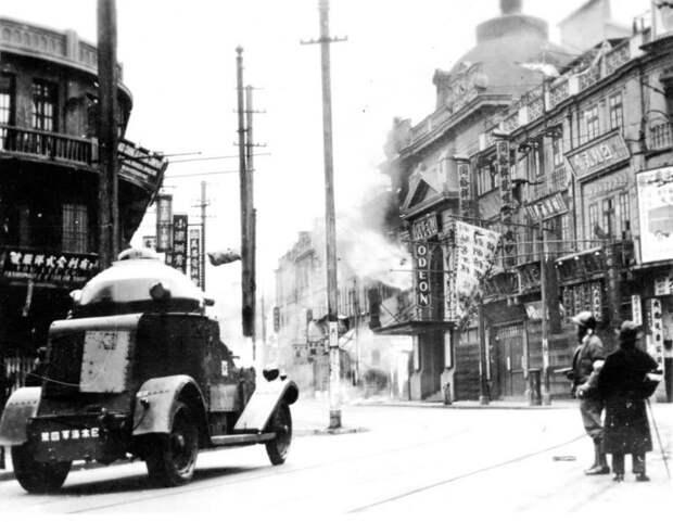 Японский броневик в Шанхае gunboards.com - Шанхай-1932: проба сил перед большой войной   Военно-исторический портал Warspot.ru