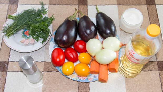 Слоеный салат из баклажанов и помидоров рецепт, салат, видео рецепт, кулинария, еда, видео, длиннопост