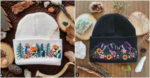 Уникальная вещь: стильные шапки с авторской вышивкой