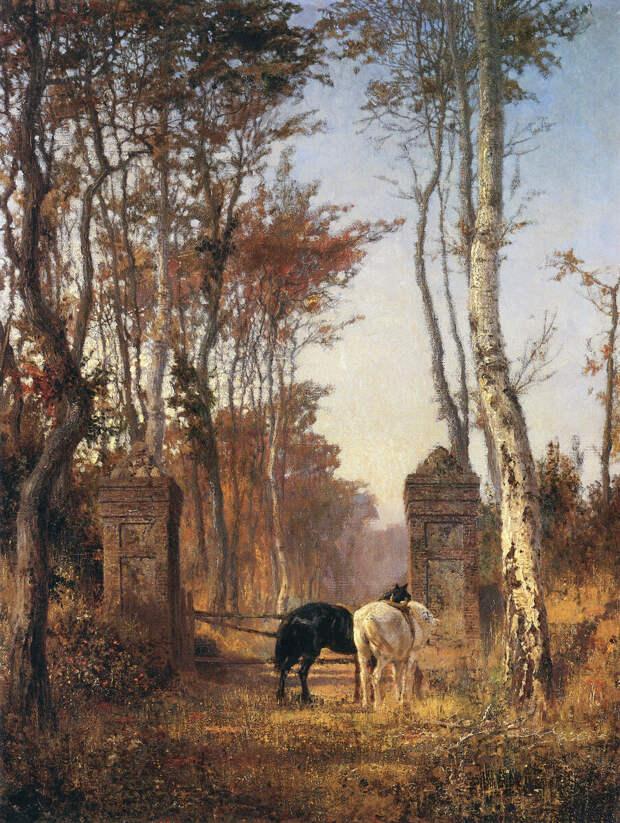 В парке. Местечко Вёль в Нормандии. Василий Дмитриевич Поленов, 1874