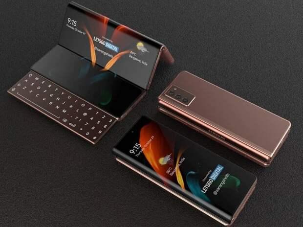 В Сети опубликовали рендеры гибкого смартфона Samsung Galaxy Z Fold 3