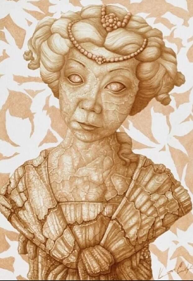 10 портретов для которых художники выбрали странные материалы