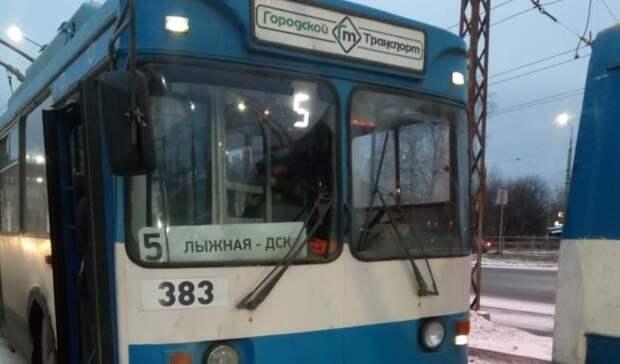 Еще один троллейбус изменит маршрут вПетрозаводске