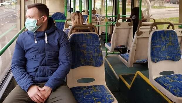 Почти 100% пассажиров общественного транспорта Подмосковья носят медицинские маски