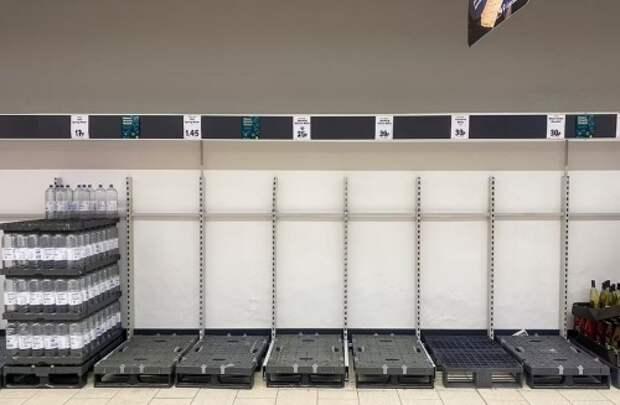 Новое жуткое объяснение пустых полок в Европе и в США
