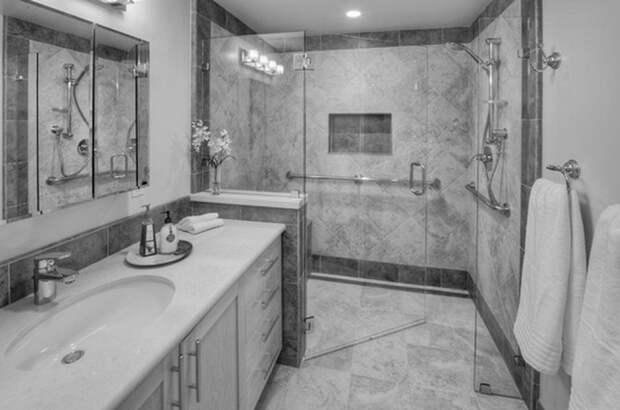 Современные ванные и душевые