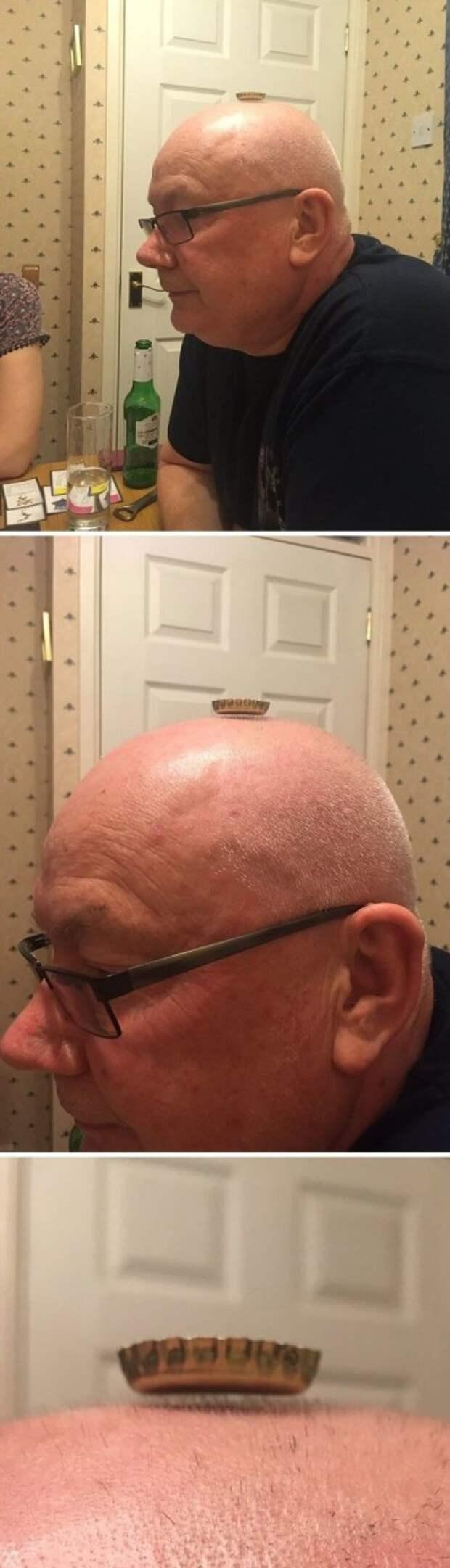 """2. """"Папа доказал нам, что у него еще остались волосы!"""" забавно, отцы, папы, подборка, приколы, смешно, фото, юмор"""