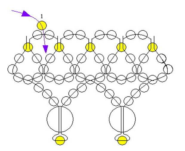 Схема свадебного колье ручной работы