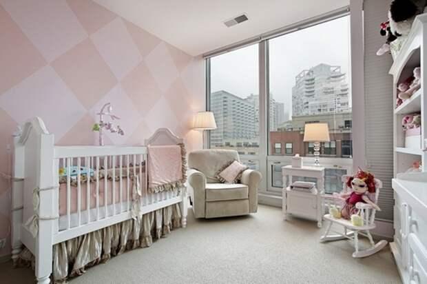 покраска стен в два цвета: дизайн для детской