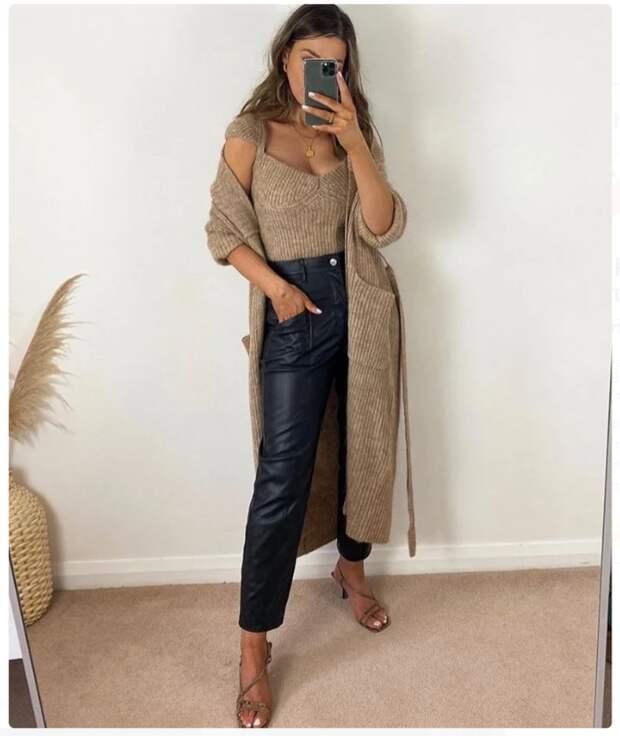 Кожаные брюки. Обзор модных моделей 2021 + варианты комбинаций с ними