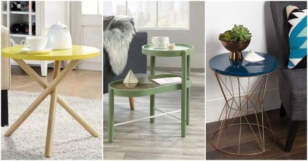 Оригинальные, стильные и компактные минималистичные столики украсят любой интерьер
