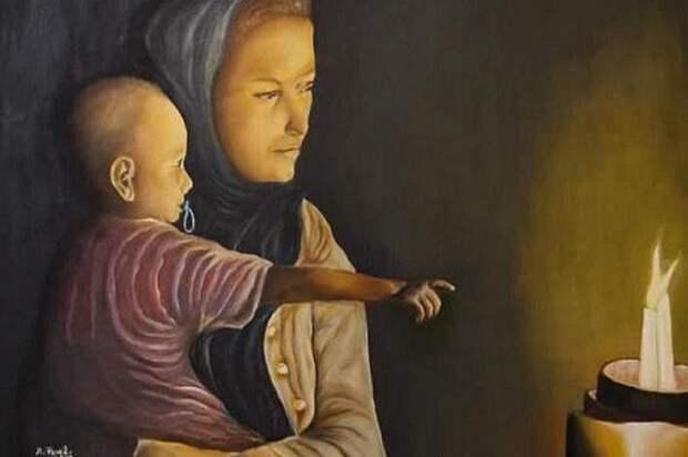 Работа израильского художника Арие Переля/Фото: сайт префектуры СВАО
