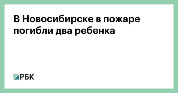 В Новосибирске в пожаре погибли два ребенка