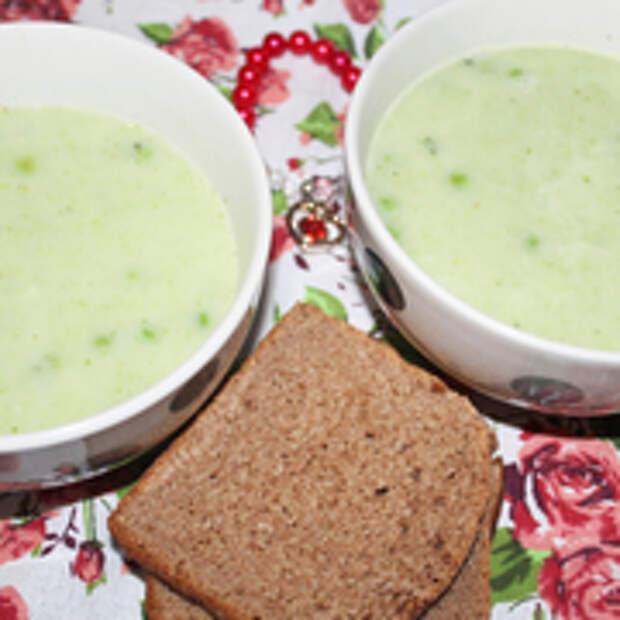 "Зеленый суп-пюре ""скоро весна!"""