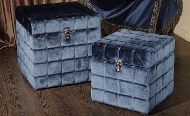 Удобные и симпатичные сундуки и коробки своими руками