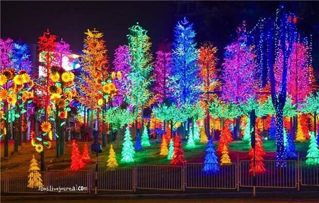 I‑City: светящийся сад в Малайзии