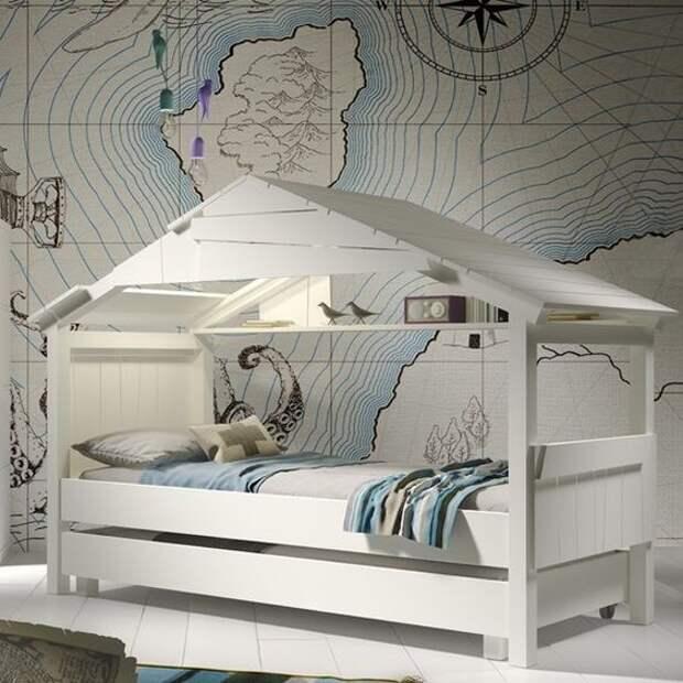 Кровати домики в скандинавском стиле  (подборка)