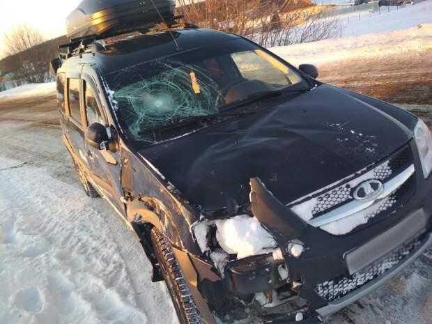 Два пешехода попали под колеса авто на скользкой дороге под Ижевском