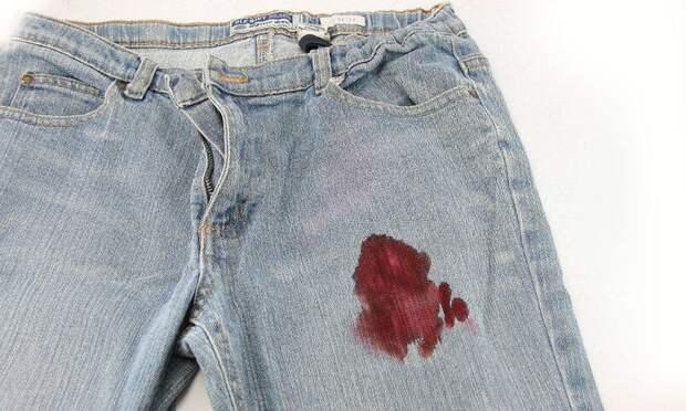 Пятно крови на одежде