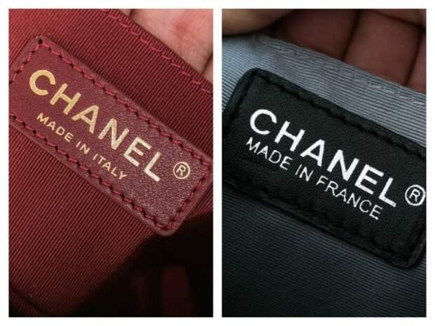 логотип chanel на сумке