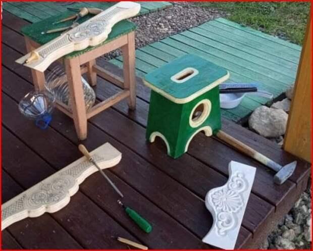 Изготовление чайного столика для сада своими руками.