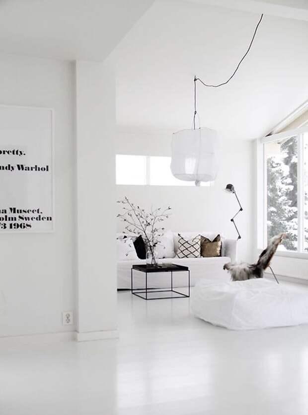 Только белый! 6 правил монохромного интерьера, в котором хочется жить
