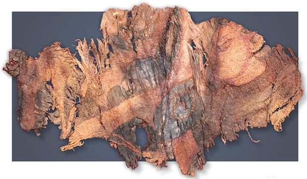 Фрагмент вышивки на шелке – «Первый персонаж». 20-й ноин-улинский курган