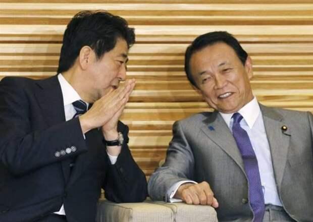Синдзо Абэ и Таро Асо