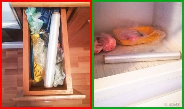 Пищевая пленка в холодильнике