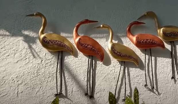 Птицы счастья — элегантный, красивый и простой в исполнении декор из подручных материалов