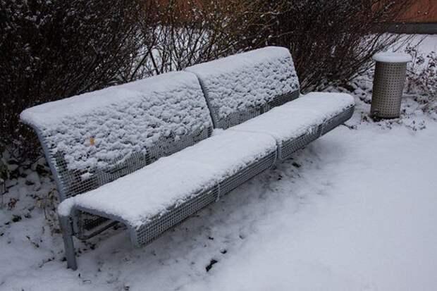 Новая Зеландия, Снег, Парк Скамейка