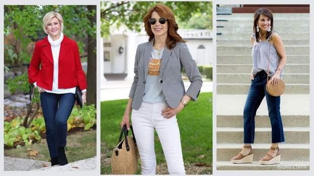 11 стильных идей с джинсами для женщины элегантного возраста