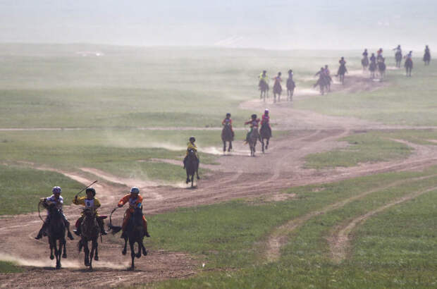 Состязание Надом в Монголии