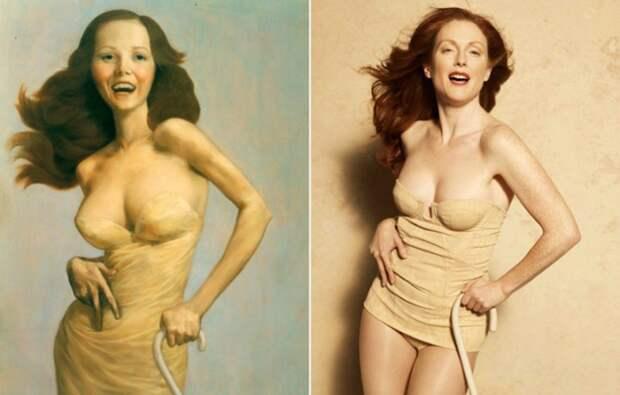 Портреты леди: Джулианна Мур в модных интерпретациях великих картин