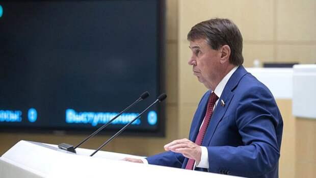 Сенатор Цеков считает необходимым ввести экономические санкции в отношении Чехии