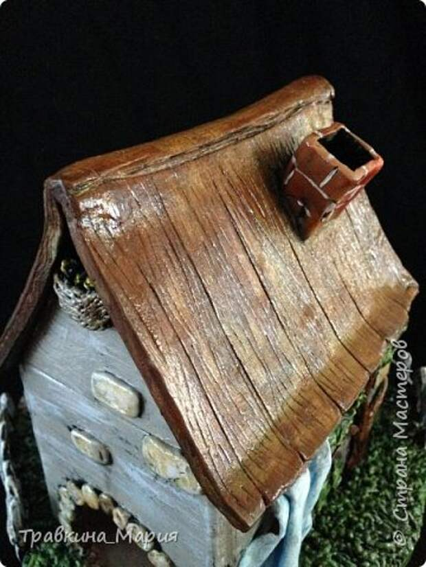 Мастер-класс Поделка изделие Лепка Свечной дом Глина фото 5