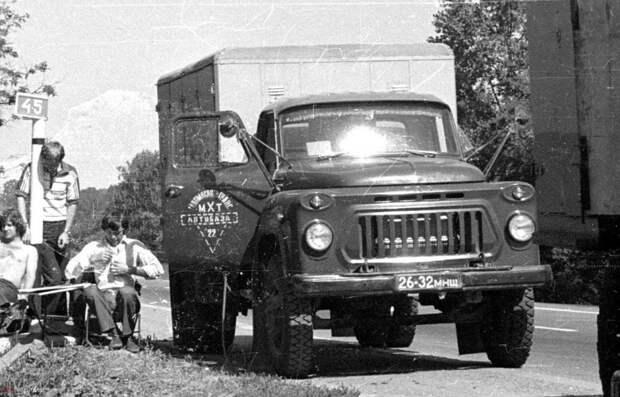 Хлебный фургон 22-й автобазы Мосхлебтранса СССР, авто, автомобили, автофургон, грузовик, ретро техника, фургон, хлеб