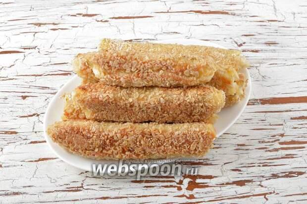 А ЧТО НА ЗАВТРАК? Хрустящие бутерброды-трубочки с тающей внутри начинкой