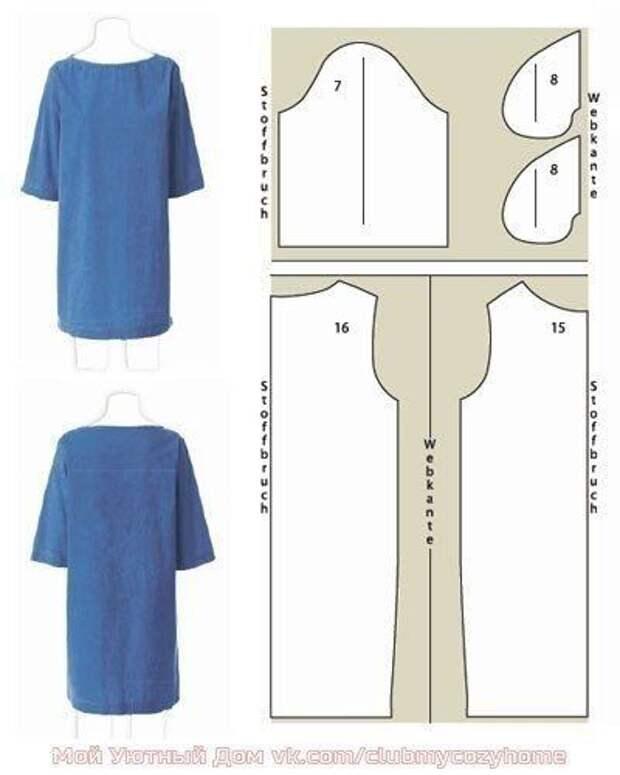 Выкройки платьев для начинающих. Простые выкройки своими руками фото