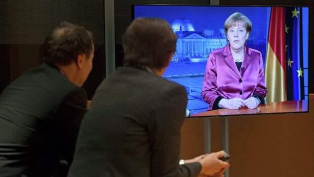 Трансляция новогоднего обращения Ангелы Меркель, Берлин