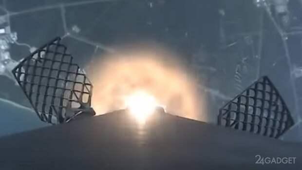 Опубликовано видео полного полета с бортовой камеры SpaceX Falcon 9