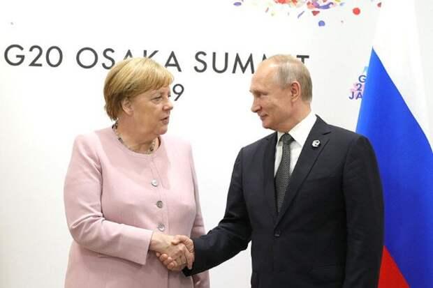 Ангела Меркель и Владимир Путин. Фото: President of Russia/Twitter.com/www.globallookpress.com