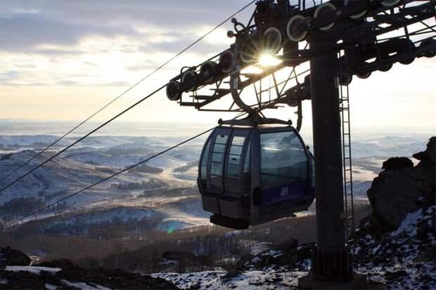 Абзаково зима, курорт, лыжи, отдых