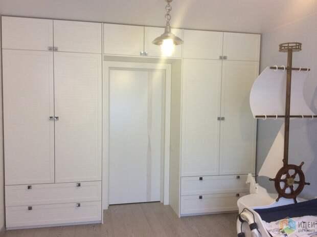Шкаф вокруг двери - идеи