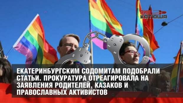 Екатеринбургским содомитам подобрали статьи. Прокуратура отреагировала на заявления родителей, казаков и православных активистов