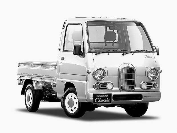 Если хочется, чтобы было под старину, но времени на тюнинг нет. Заводской вариант Sambar Classic jdm, subari, subaru sambar, авто, автомобили, кей-кар, япония