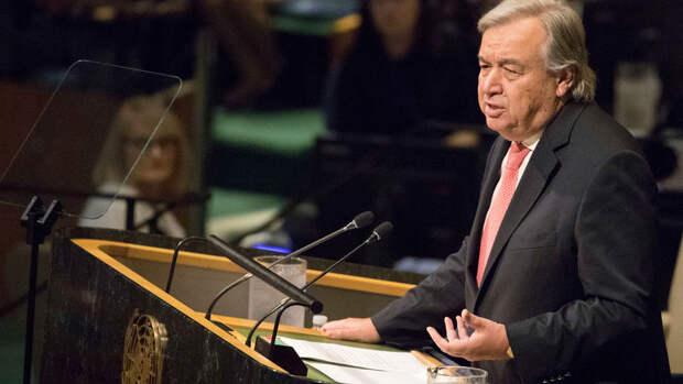 Генсек призвал избегать обострения ситуации в Донбассе
