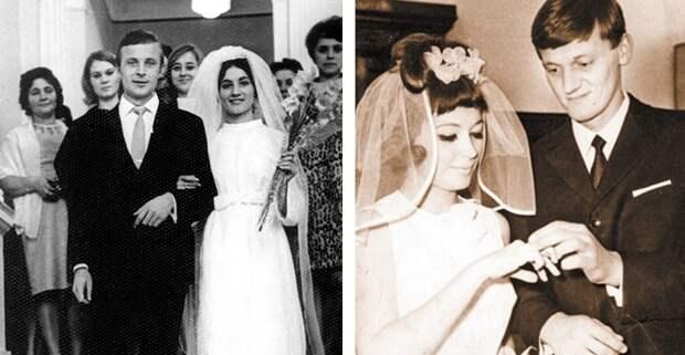 Вчем выходили замуж звезды советской эпохи: редкие свадебные кадры