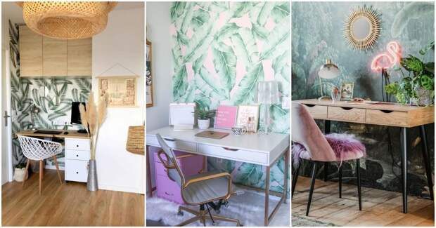 25 веселых идей декора домашнего офиса в тропиках