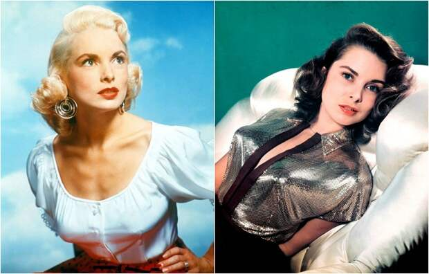 Хичкоковская блондинка Джанет Ли на фотографиях 1940-х и 1950-х годов.
